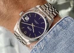 Tudor Ensemble Complet 74000 Prince Date Cadran Bleu Mens 35mm Juin 2020 Watch En Acier + Box