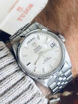 Tudor Ensemble Complet Rolex Day-date-prince Cadran Mens Acier Papier 34mm Montre Président