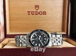 Tudor Mini Sub Submariner Ensemble Complet Demi Rolex Vintage 1992 Papiers Montre En Acier