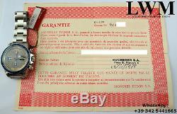 Tudor Monte Carlo 94200 Lunette Bleu Cadran Exotique Ensemble Complet 1979 De