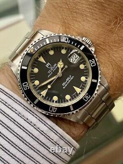 Tudor Sous Submariner Prince Oysterdate Ensemble Complet Papiers Millésime Années 1990 Montre Rolex