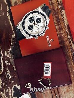 Tudor Tiger Full Set Chronograph Panda Dial Mens 40mm Steel Box Papers Montre