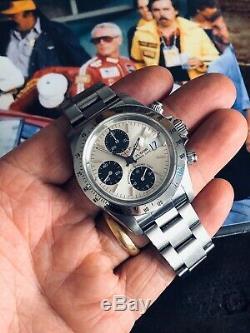 Tudor Tiger Set Complet Rolex Daytona Panda Dial Acier Mens 40mm Paul Newman Montre