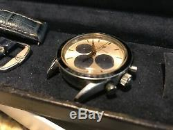 Universal Geneve Compax 1950 Bleu Bezel 884,485 Panda Chronographe Full Set