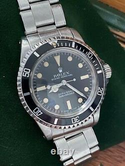 Véritable Original Rolex 5513 1969 Mètres Première Usine À 100%, Coffret Complet