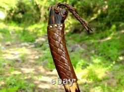 Viking Forged Axe En Acier Inoxydable Au Carbone Jetant Chapeau De Camping Axes Barbelées