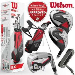 Wilson Profil Sgi Full Golf Set Package (+ Pilote + 6 5w-sw + Putter + Sac) Nouveau! 2020