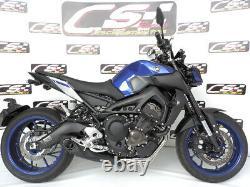 Yamaha Fz-09 / Mt-09 / Xsr900 Échappement Complet + Silencieux + En-tête 2014-on Cs Racing